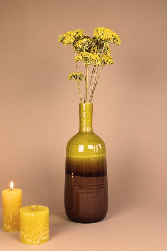 droogbloemen gele achillea