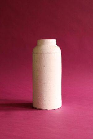 witte vaas xxl roze achtergrond