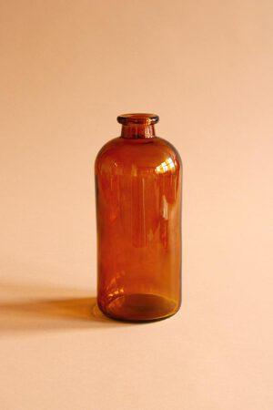 Fles van bruin glas
