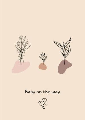 wenskaart baby on the way