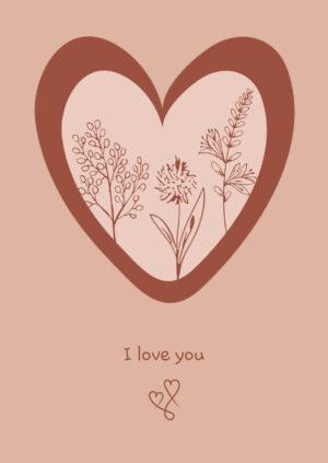 wenskaart i love you