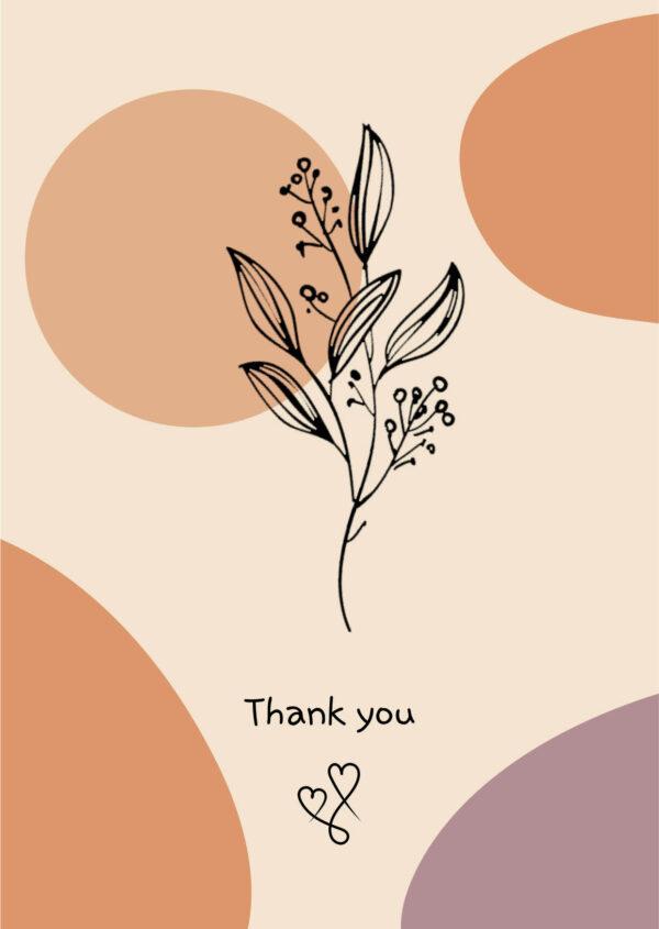 wenskaart thank you